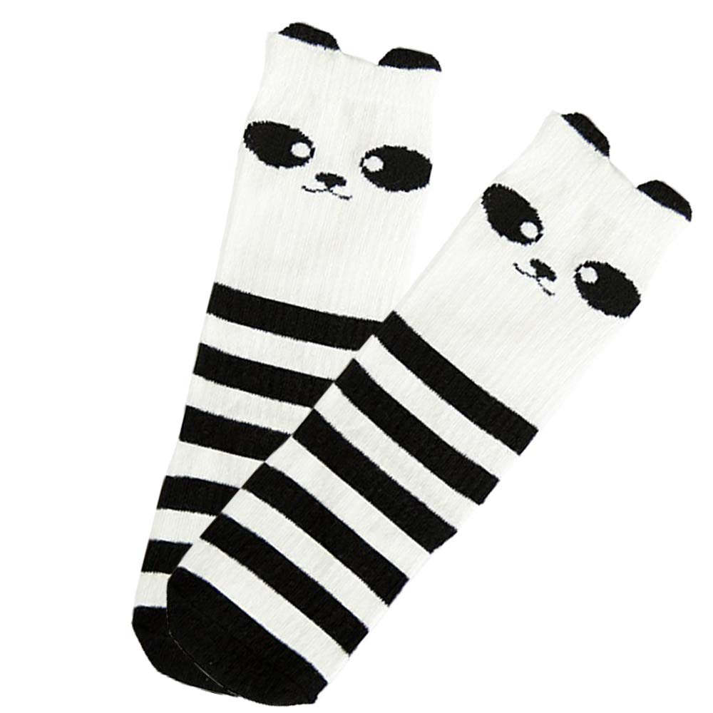 Refaxi Boy Girl Crew Ankle Socks Stockings Lot Casual 0-1 Baby Toddler Kids Black+white, S