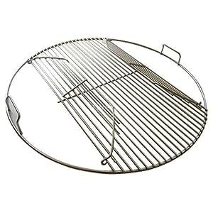304Acero inoxidable con bisagras 57,15cm rejilla de cocción para Weber parrillas de carbón