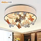 BGmdjcf Modern And Stylish Crystal Light Ceiling Light Butterfly Love With 5W ,80Cm-