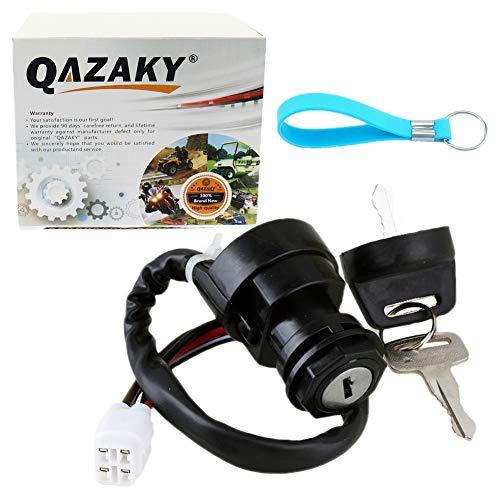 QAZAKY Ignition Key Switch for Yamaha Wolverine Grizzly Kodiak YFZ450 YFM400 YFM450 YFM45F YFM45 YFZ YFM 400 450 ()