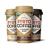FORTO - 200mg caffeine-energy, Variety Pack (Mocha, Vanilla, Sweetened Black) - 6 x 2oz. bottles, ready-to-drink cold brew coffee