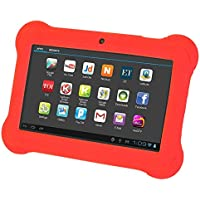 SODIAL(R) 4GB Android 4.4 Wi-Fi Tablet PC Beautiful 7 inch Five-Point Multitouch Display - Special Kids Edition Red