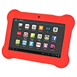 TOOGOO(R) 4GB Android 4.4 Wi-Fi Tablet PC Beautiful 7 inch Five-Point Multitouch Display - Special Kids Edition Red