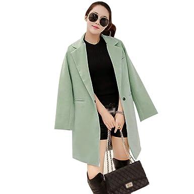 Blazer Mujer Primavera Otoño Largos Abrigos Elegantes Mode De Marca Manga Larga Fashion Slim Fit De Solapa Informales Oficina Chaqueta De Traje Outerwear ...