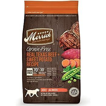 Merrick Grain Free Real Texas Beef & Sweet Potato Dry Dog Food, 4 lbs.