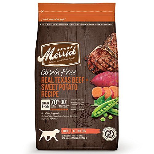 Merrick Grain Free Real Texas Beef & Sweet Potato Dry Dog Food, 25...