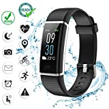 VINSO TECH Fitness Tracker, Bluetooth Smart Watch Incoming Call Message Reminder Full Color Screen, Heart Rate Monitor 14 Sports Modes Step Counter Android iOS …