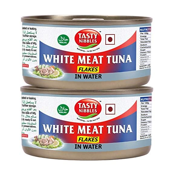 Tasty Nibbles White Meat Tuna Flakes in Water, 185 g X 2