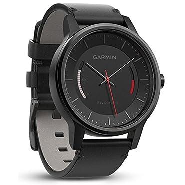 Garmin Vivomove Classic Activity Tracker Black with Leather Band (010-01597-12)