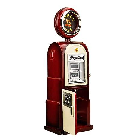 Iusun Retro Gas Station Music Box Vintage Valentines Christmas Birthday Gift Toys Home Bar