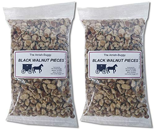Snack Nuts (Raw Black Walnut pieces 14oz. 2 pack) (Best Black Walnut Cake Recipe)