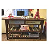 Open Sofa Table with Storage Drawers Shelves Antique Rustic Luxury Farmhouse Vintage & eBook by OISTRIA