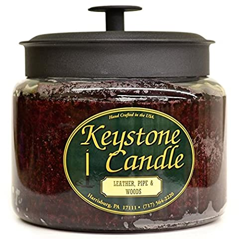 Leather, Pipe, and Woods 64 oz Montana Jar Candles