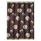 Allure Home Creations Awesome Owls Microfiber Printed Shower Curtain