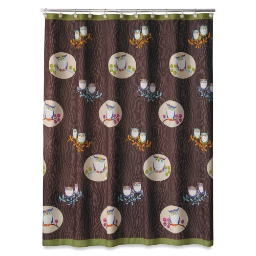 Allure Home Creations Awesome Owls Microfiber Printed Shower (Allure Awesome Owls)