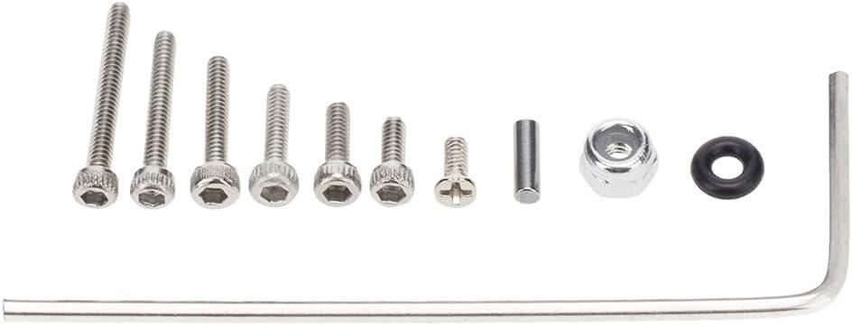 Senmubery 176Pcs M1.4 Metal Screws M2 Nut Box Set for Axial SCX24 90081 1//24 RC Crawler Car Upgrade Parts Accessories