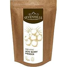 Sevenhills Wholefoods Organic Acai Berry Powder 100 g / Biologique Acai Berry Poudre, Soil Association certified organic