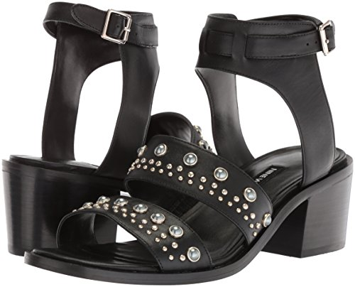 Black Nine Talla Sandalias Leather Tacón De West Mujeres ARFwY