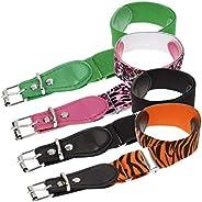 Bundle Monster 4pc Mix Design Adjustable Elastic Band Girls Fashion Stretch Belt
