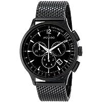 Movado Men's Black Circa Stainless Steel 42MM Quartz Analog Chronograph Watch