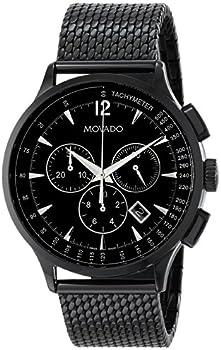 Movado Men's Black Circa Stainless Steel Watch