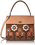 Orla Kiely Suede Embroidery Large Cicely Bag
