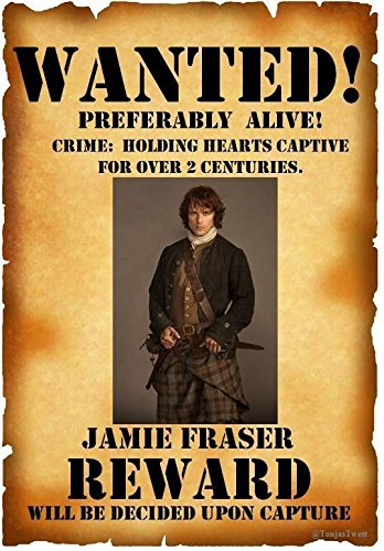 Jamie Outlander Wanted Poster - Photo Fridge Magnet Ace Geordie Collectables