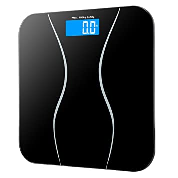Amazoncom GDEALER Digital Bathroom Scale Lbkg Body Weight - Large display digital bathroom scales