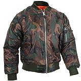 Rothco MA-1 Flight Jacket, Woodland Camo, L