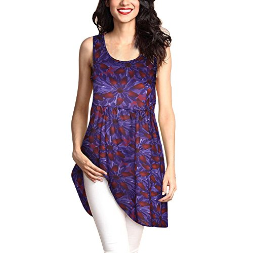 T-shirt Over Ivy - Sunmoot 2019 Newest Casual Boho Printed Long Blouse for Womens Plus Size Sleeveless O-Neck Loose Tank Tops T-Shirt