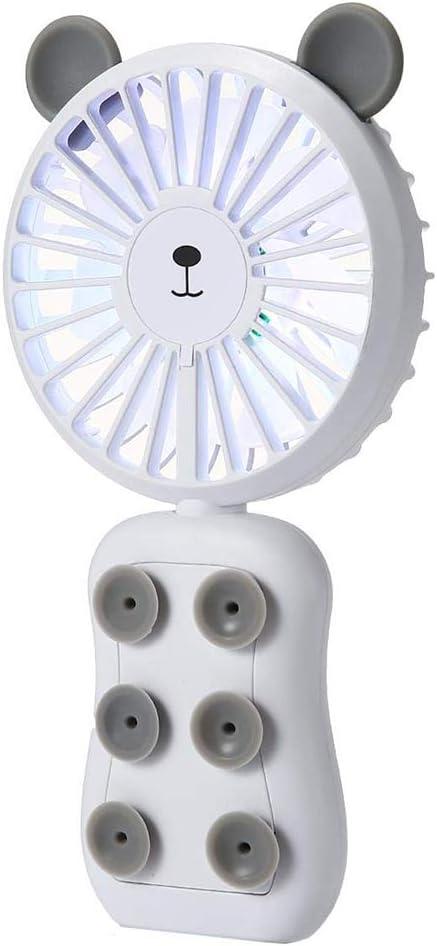 ZHEDAN Ventilador De Mano con Ventosas, Ventilador Eléctrico para ...