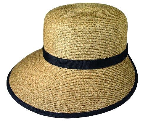 cappelli-womens-straw-sun-visor-natural-black-one