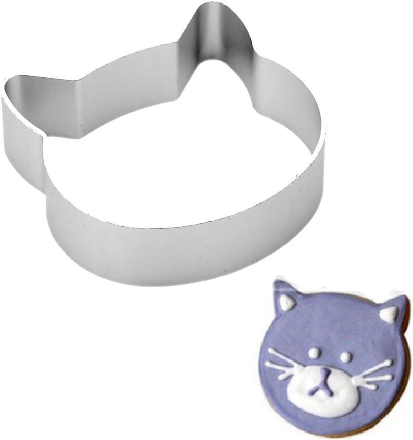 KitchenCraft Cat Cookie Cutter Stainless Steel 9 x 7.5 x 2.5 cm