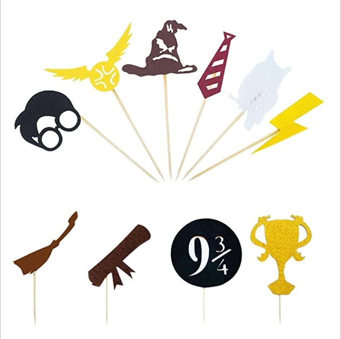 Harry Potter – Juego de 30 adornos para cupcakes inspirados ...