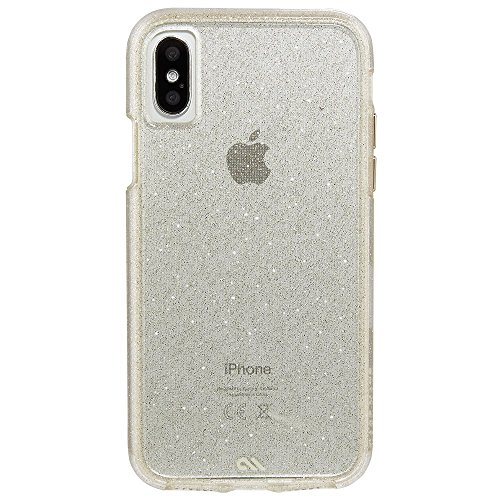 Case-Mate iPhone X Case - NAKED TOUGH - Sheer Glam - Sparkle Effect - Protective Design - Apple iPhone 10 - Sheer Glam