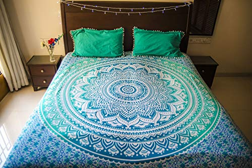Find Cheap Hippie Mandala Tapestry Bedding with Pillow Covers, Bohemian Wall Hanging, Hippy Blanket ...