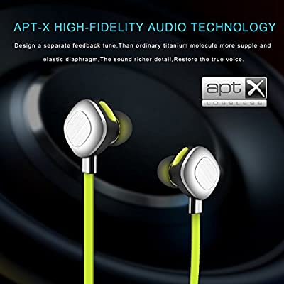AOKII Wireless Earbuds Magnetic Bluetooth Headphones with Microphone for sports