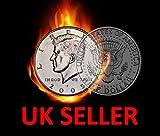 MAGIC HALF DOLLAR SPLIT COIN / US 50 CENT SPLIT COIN MAGIC TRICK