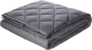 Viki Cooling Weighted Blanket 20 lbs 60''x80'', Dark Grey, 2.0 Adults Heavy Blanket with Glass Beads