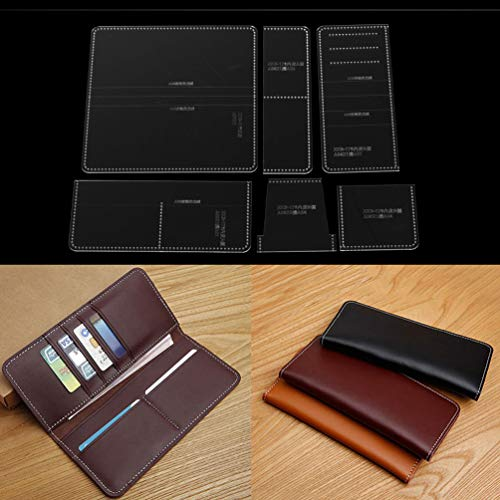 Lychee Business Wallet Acrylic Template Lighter Patterns Stencil Template Tool Leather Craft