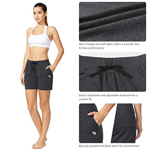 Baleaf Women's Activewear Yoga Lounge Shorts with Pockets Charcoal Size M by Baleaf (Image #5)