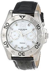 Akribos XXIV Women's AKR483BK Diamond Multi-Function Watch