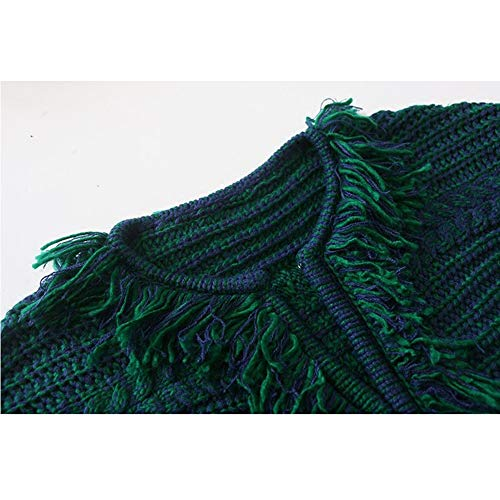 Di Scuro Autunno Llxym Green E Del Inverno Colore Cardigan Misto Maglione Cappotto Knit Verde 1zHxzqXv