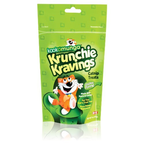 Krunchie Kravings Catnip Treat, de pollo, de 5 onzas