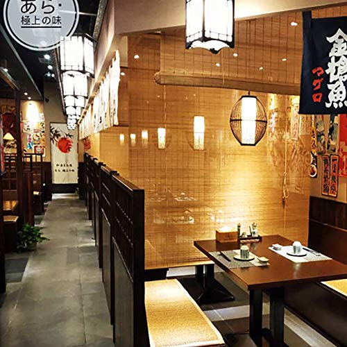 LiQi Bamboo Roller Shades Outdoor Exterior Bamboo Blinds with Hook Up, Partition Wall Decor for Restaurants Cafe (Size : W 120×H 160cm)