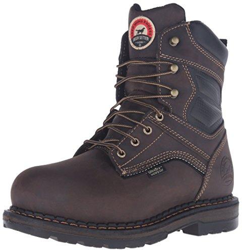 Boots Waterproof 400g Insulated (Irish Setter Work Men's 83822 Ramsey Waterproof Insulated 8 inch Boot, Brown, 10 D US)