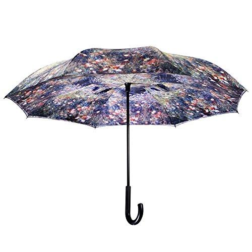 Galleria's Reverse Close Umbrella, Renoir, Woman with a Parasol in a Garden.