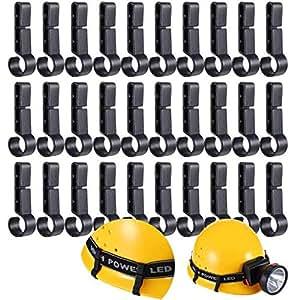 Niome Pack of 10 Helmet Headlamp Clips Hooks for Various Helmets,Hardhat,Safety Cap