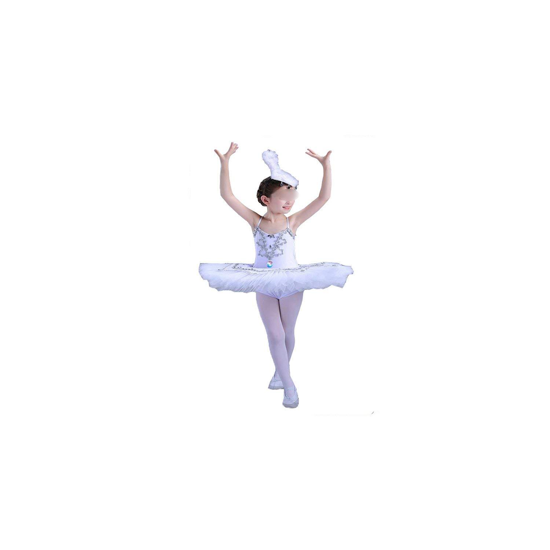 ballet Children's Ballet Costume Short Ballet Tutu Skirt Dance Dress For Girls,White,150cm by Comfort-Place ballet dresses