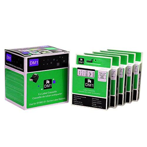 5tolle Qualität Schwarz auf Weiß Etikettenband kompatibel für Dymo D145013S0720530 3Tapes 45013Black/white